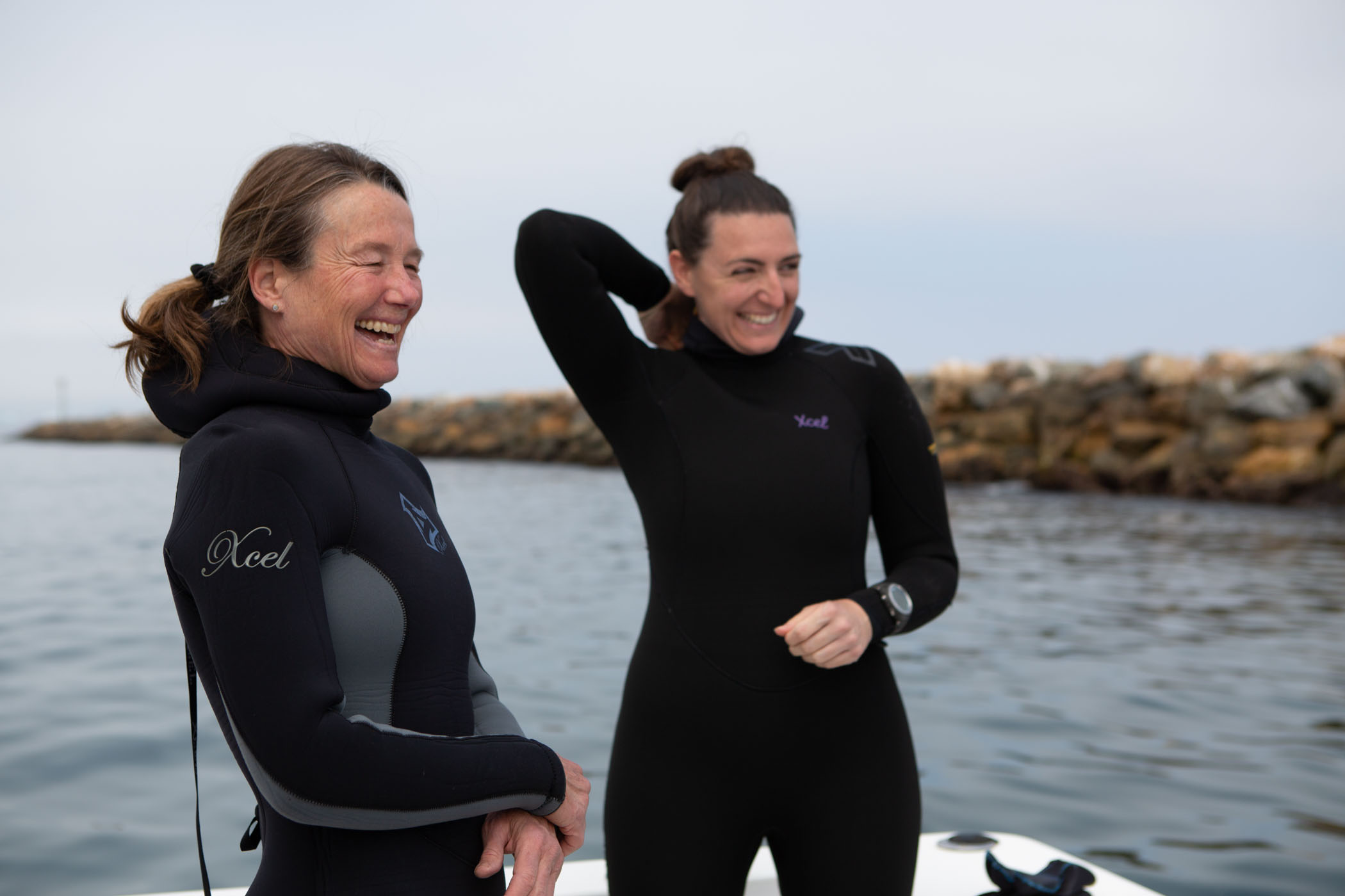 Marine biologists, Sandy Trautwein and JJ Soski for LAist