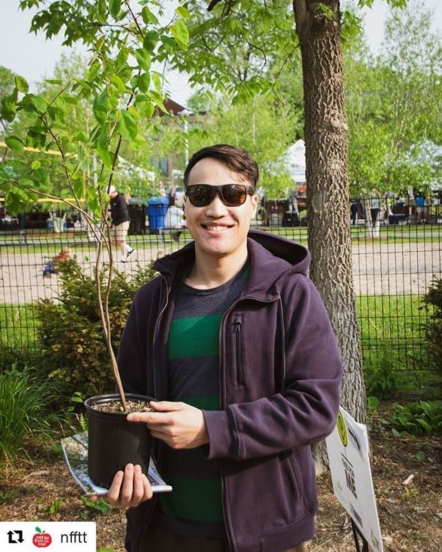 #Repost @nfftt ・・・ A few of the happy new tree owners from our #TreeForMe event this past Saturday. Thanks for coming out and we hope you enjoy your fruit trees!