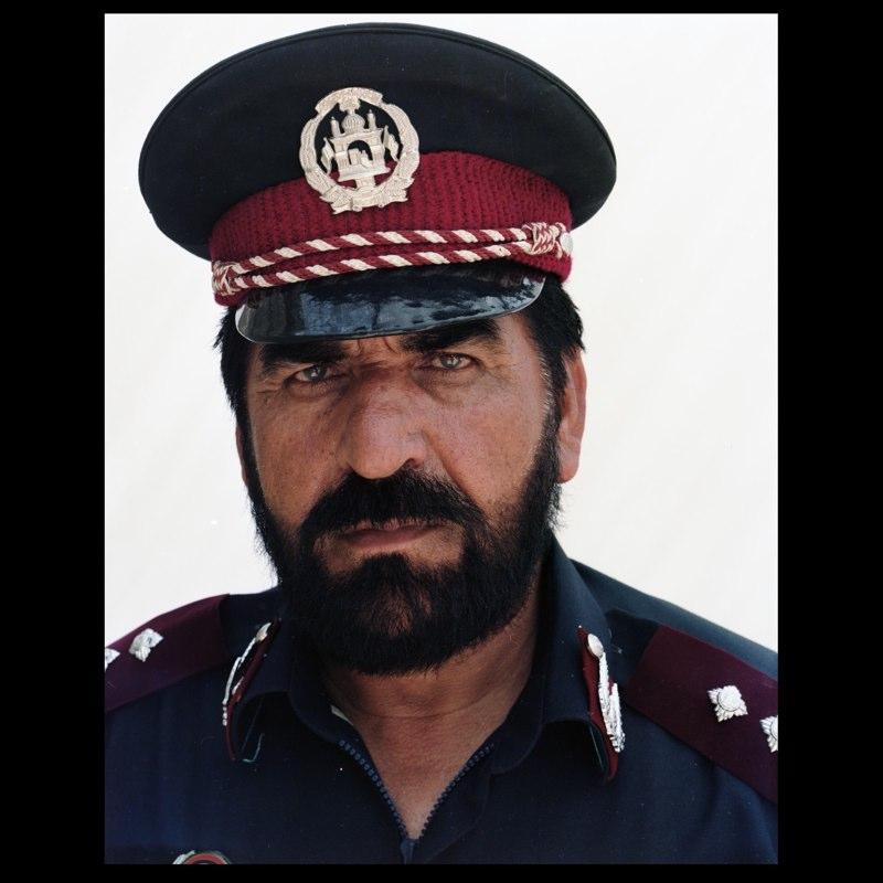 An Afghan National Civil Order Police commander in Marja.