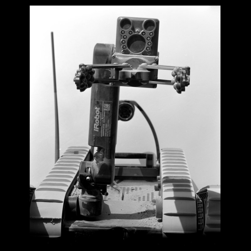 The PackBot 310 SUGV bomb-disposal robot.