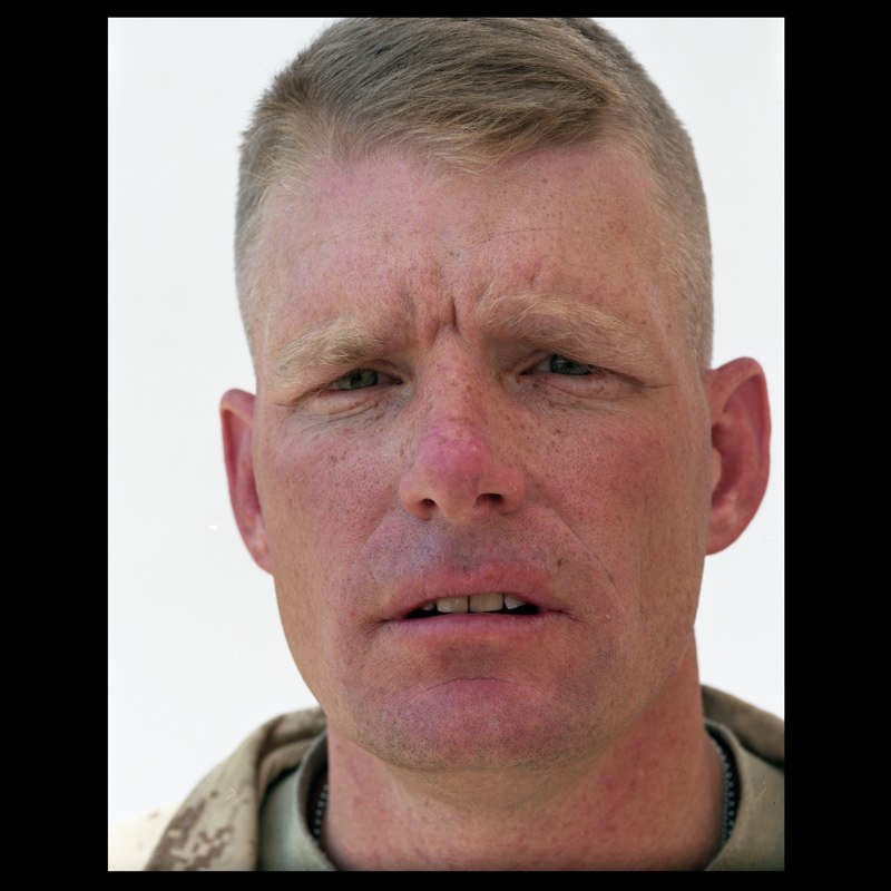 """Colonel Brian Christmas, a Marine commander who took northern Marja as part of the International Security Assistance Force's Operation Moshtarak in March. He was called up as part of President Barack Obama's surge last fall. """"This is a battle that has to have patience,"""" Colonel Christmas told me. """"A rush to failure is the biggest risk."""""""