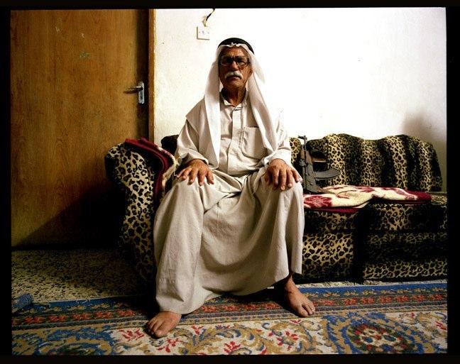 Guard for the Nasariyah museum. April, 2004.