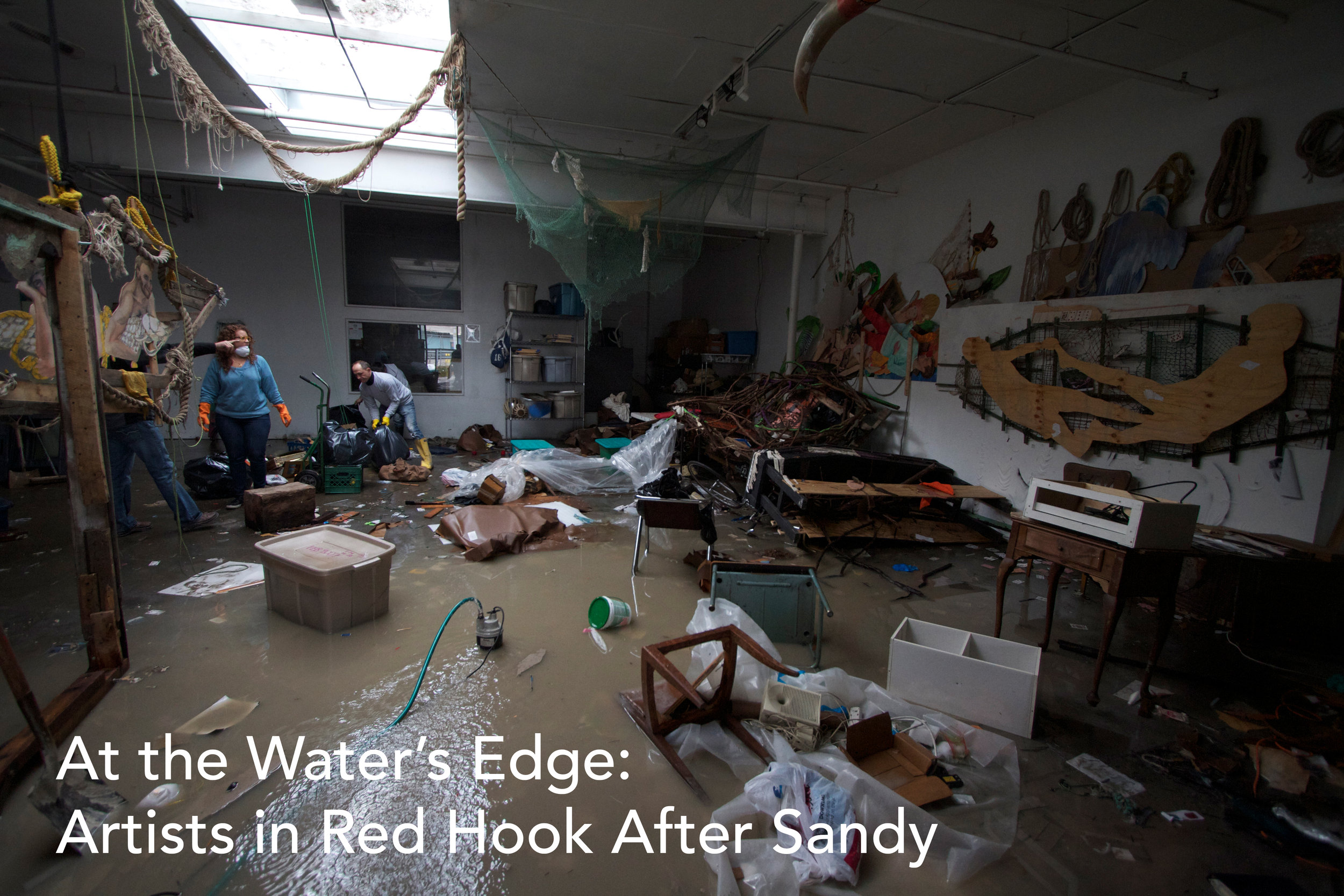 At the Water's Edge: Artists in Red Hook After Sandy - It's been five years since Superstorm Sandy hit New York City and flooded Red Hook. We're marking the anniversary by sharing this multimedia story we created several days after the storm about artists in Red Hook affected by the flooding. Click below to hear Z Behl, Benh Zeitlin, and Dustin Yellin of Pioneer Works talk about their experiences in Sandy's aftermath.