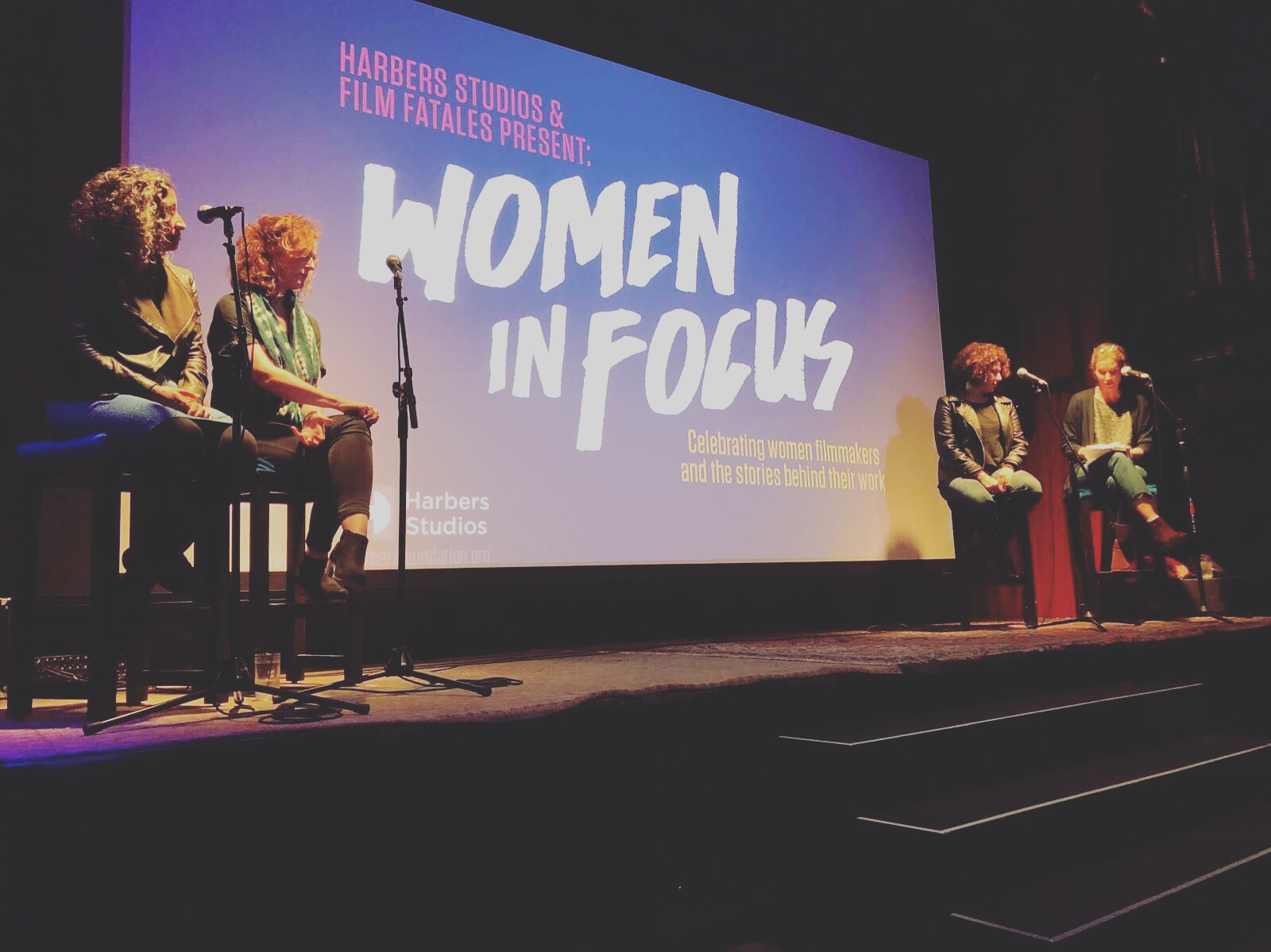 Marie-Hélène moderates Women in Focus: Celebrating women filmmakers and the stories behind their work - Marie-Hélène Carleton moderates a panel presented by Harbers Studios and Film Fatales where three female documentary filmmakers shared their experiences and insights about working in difficult locations.Click here to read more.