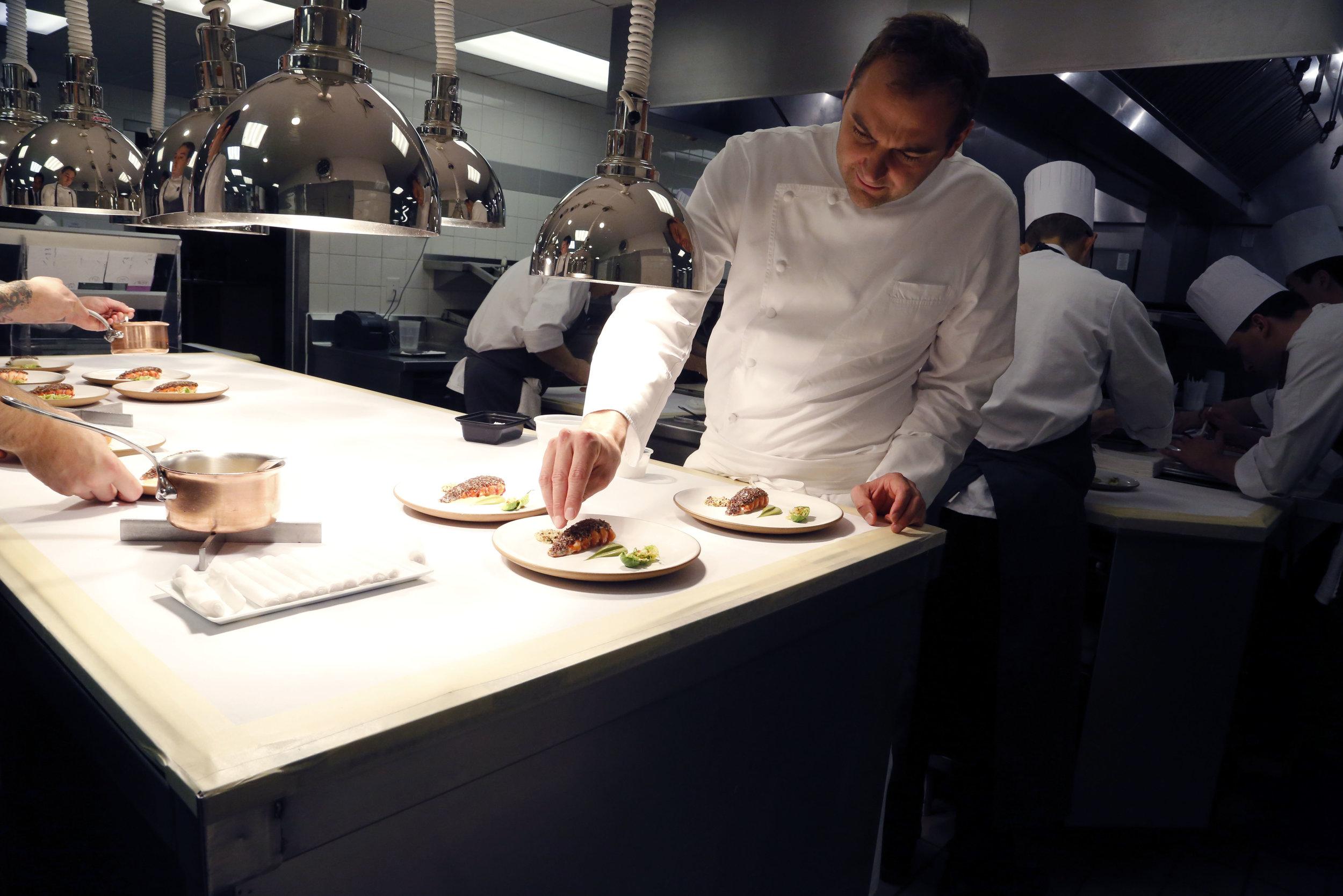Chef Daniel Humm at Eleven Madison Park, Fall 2014.