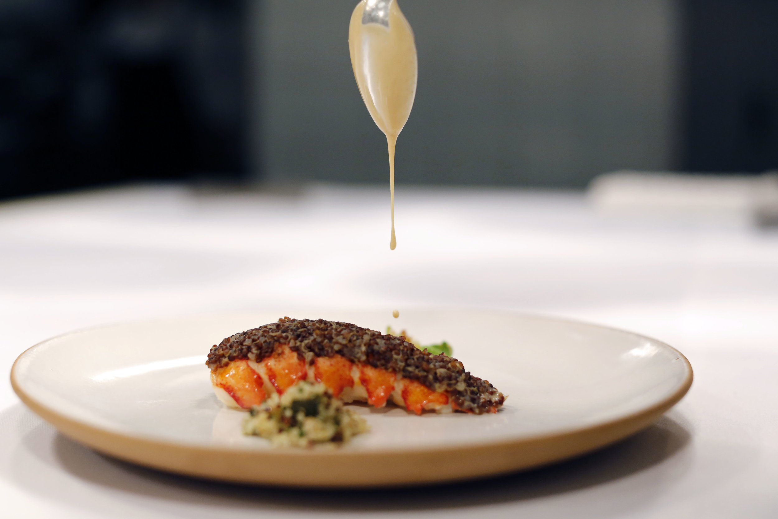 Food prepared by Chefs Daniel Humm and Ferran Adria at Eleven Madison Park, Fall 2014.