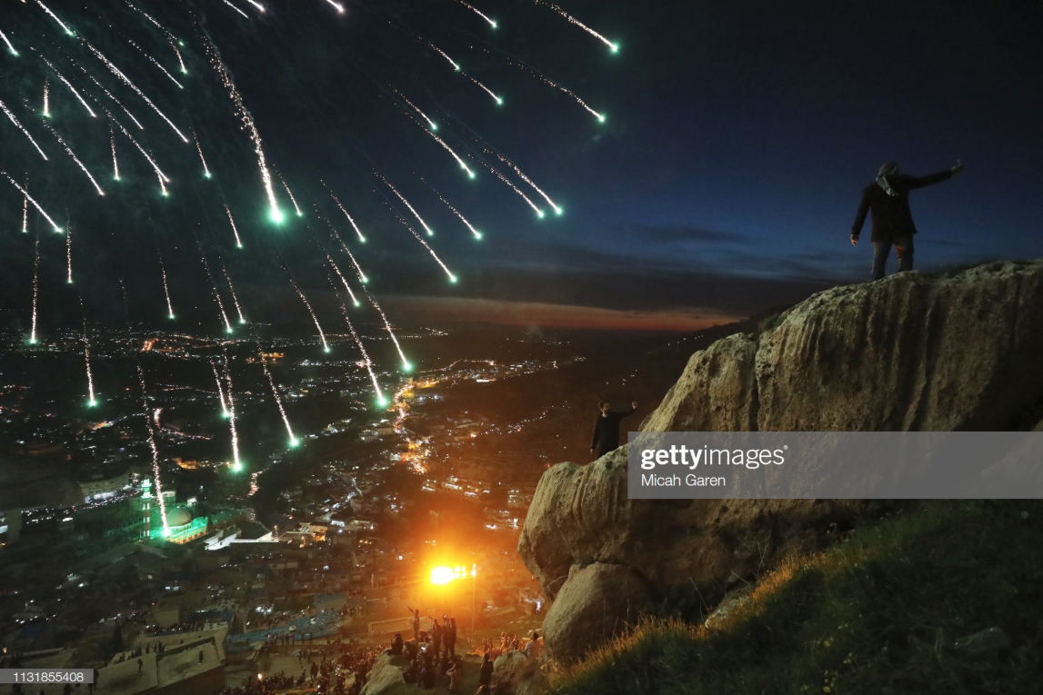 """Micah's photo of this year's Nowruz celebrations featured on Getty Images - """"Kurdish families celebrate Nowruz, also known as the Persian New Year, in the mountainous area around Akre in Iraq. Nowruz, which means """"new day"""" in Persian, marks the beginning of Spring and has been celebrated for over 3000 years. Today the holiday is celebrated by about 300 million people worldwide.""""Check it out on Instagram or on Getty's website."""