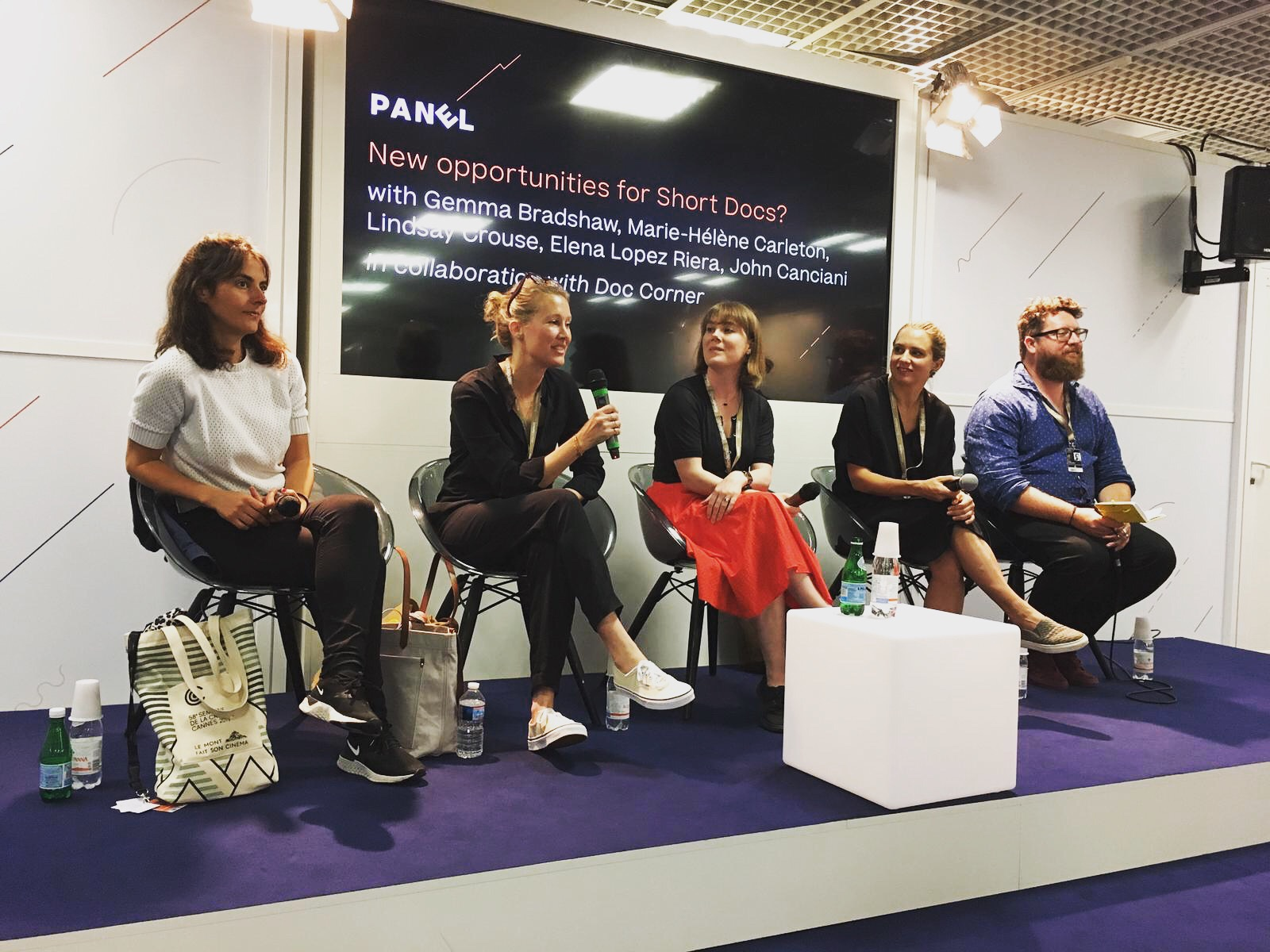 Marie-Hélène joins New Opportunities for Short Docs panel at Cannes - The Cannes Doc Corner panel discussed the current state and future landscape of short documentary films, tackling current issues like sustainability in filmmaking.