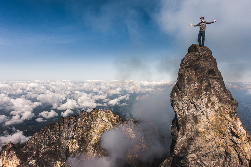 - On Top of Indonesia's Most Active Volcano Merapi