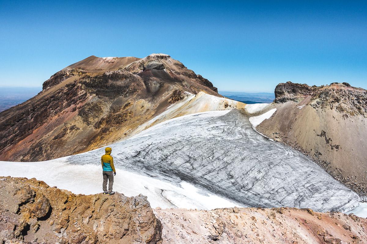 Fascinating volcanic landscape along the whole ridge of Iztaccihuatl