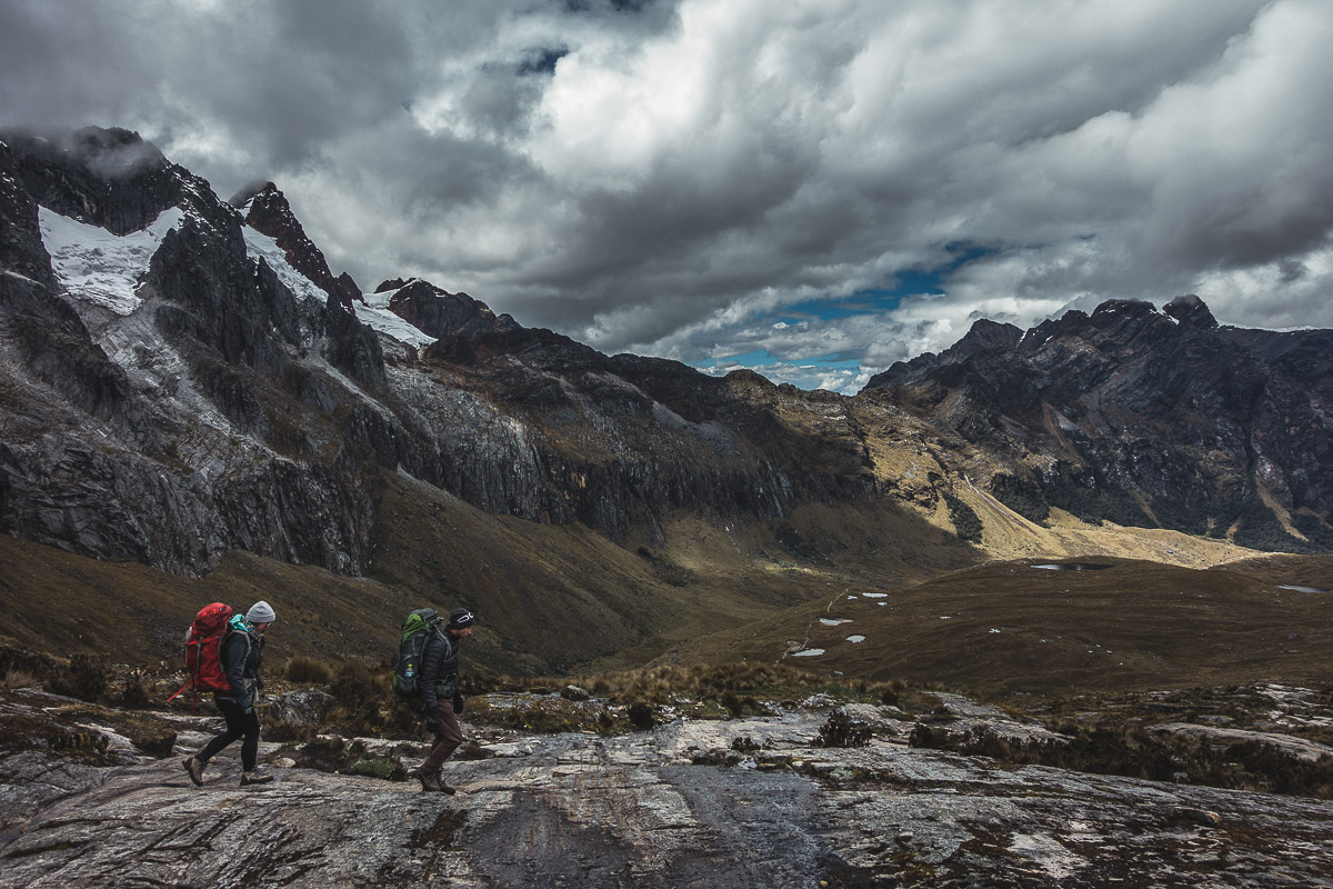 Descending into Huaripampa valley from Punta Union