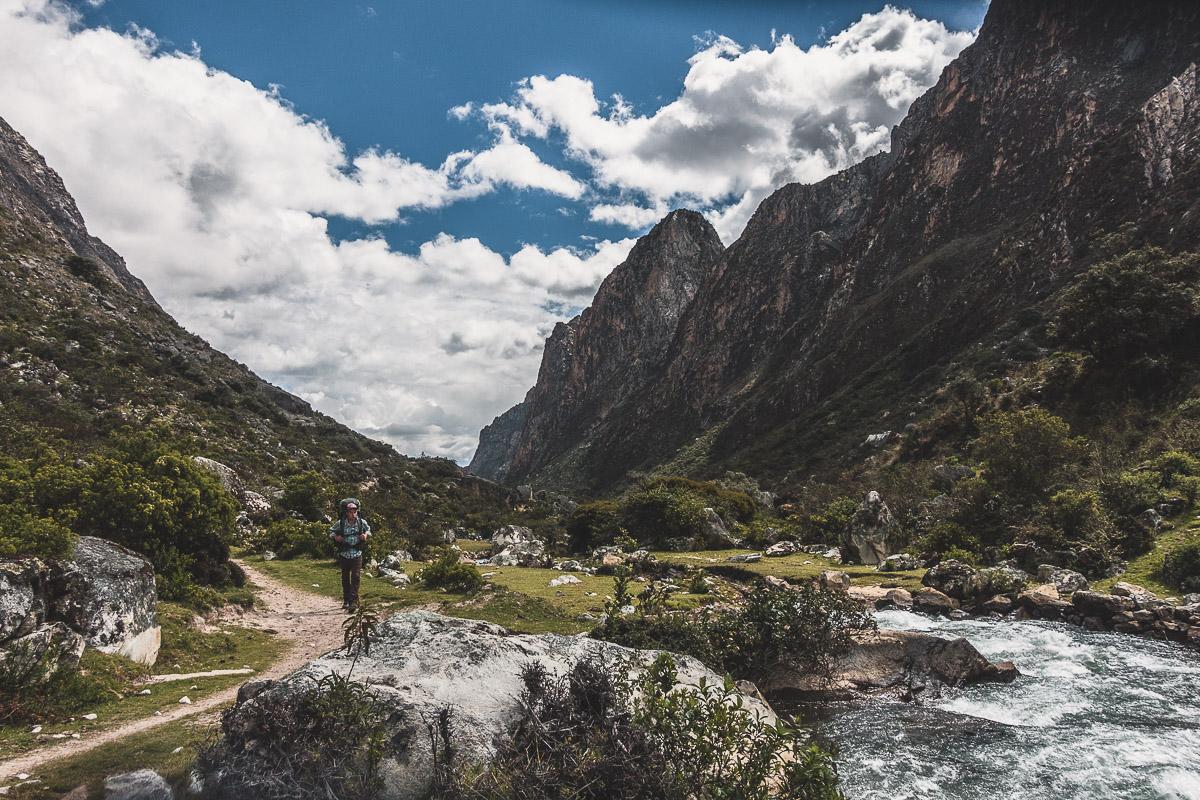 The adventure begins: Hiking into Santa Cruz Valley