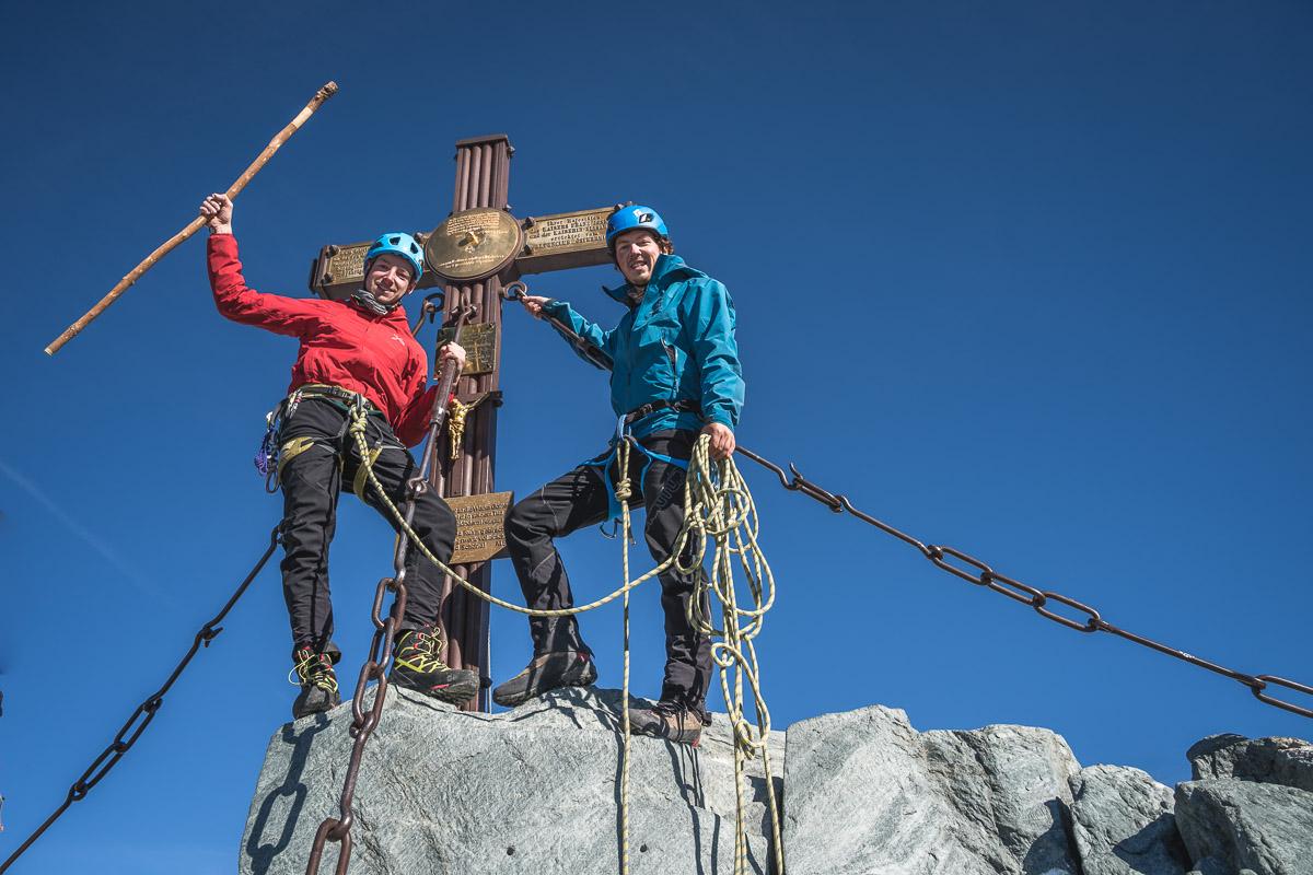 Summit of the highest mountain of Austria - Großglockner (3798m)