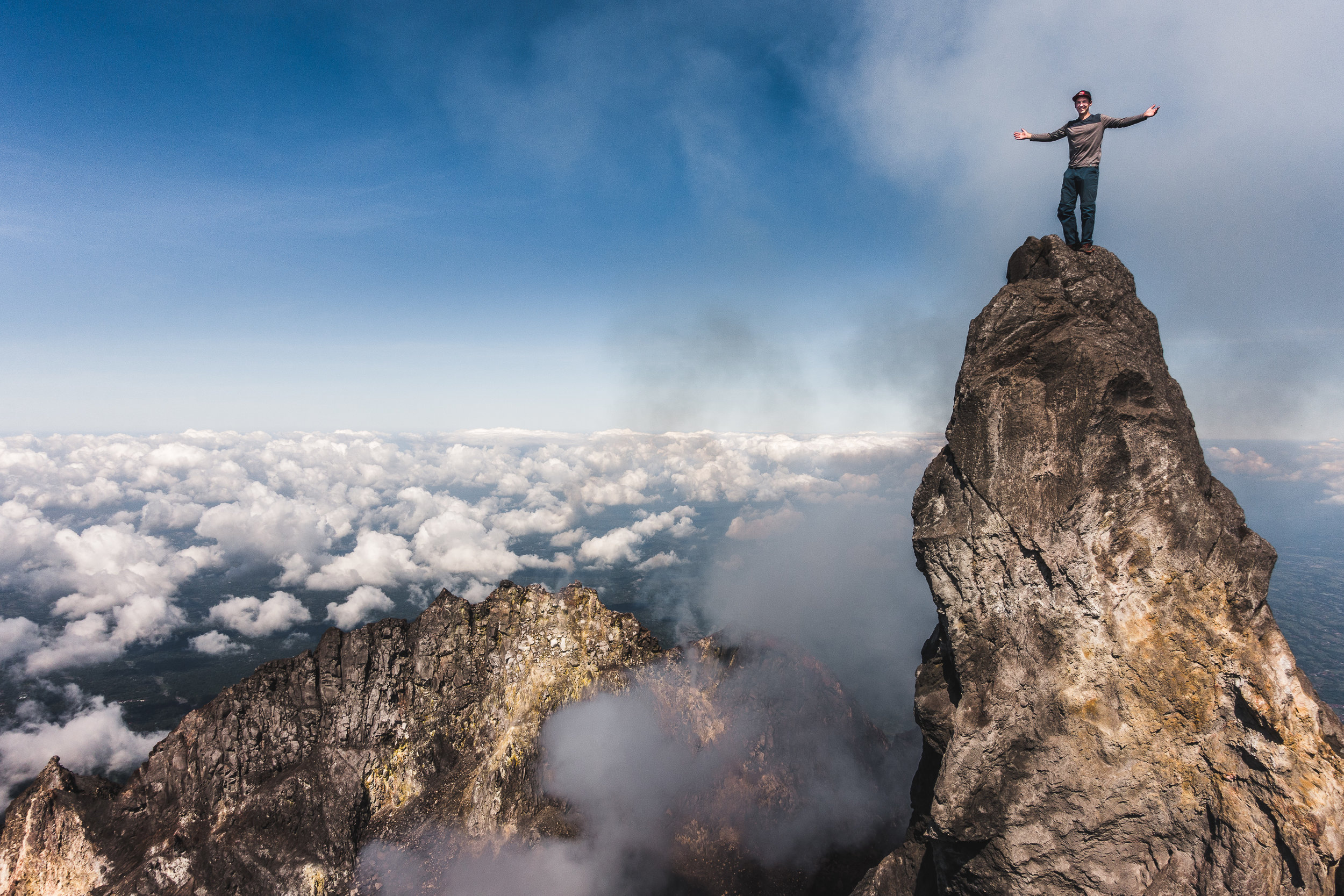 True Summit of Volcano Merapi, Java, Indonesia