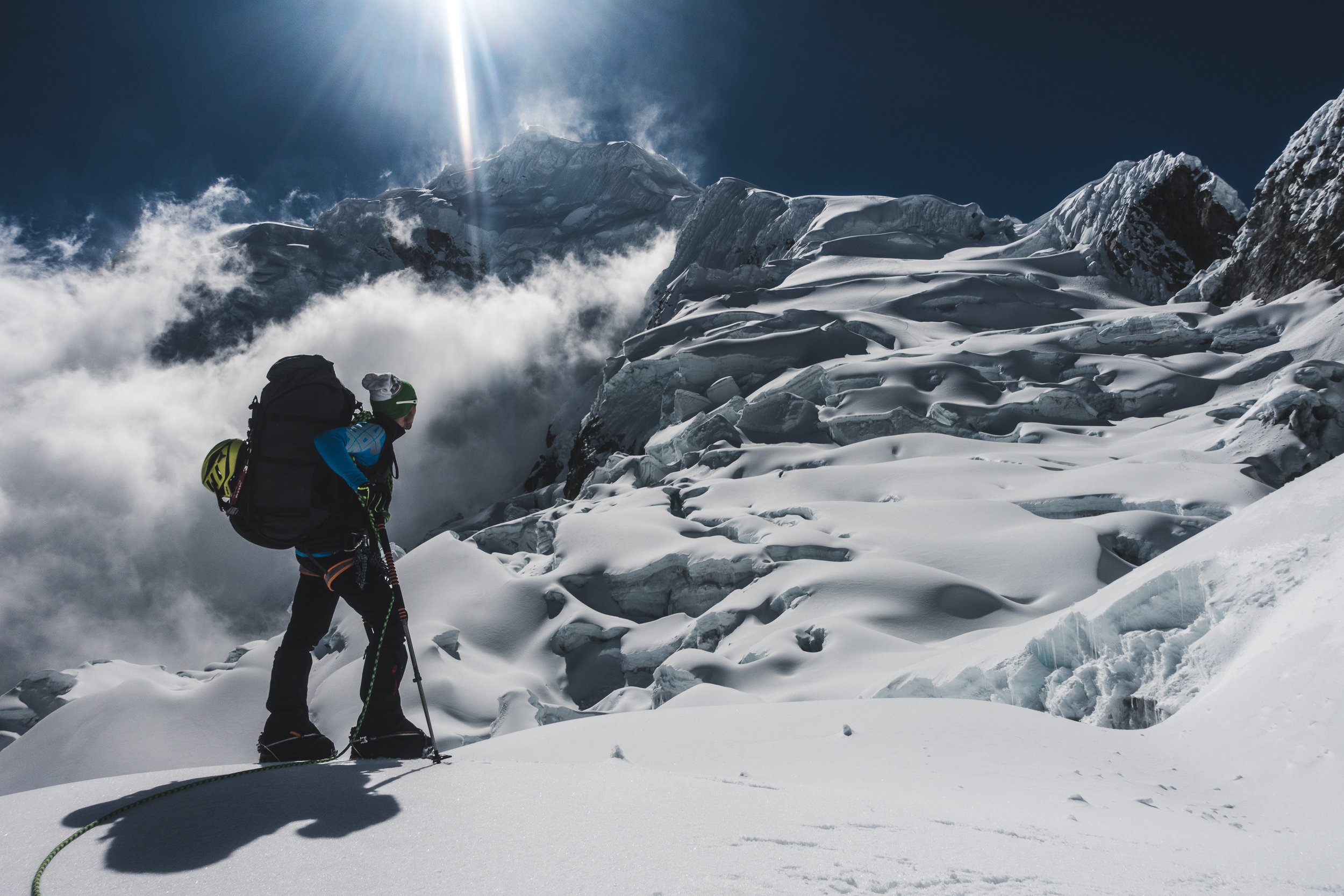 Glacier Ascent on Chopicalqui (6345m), Peru