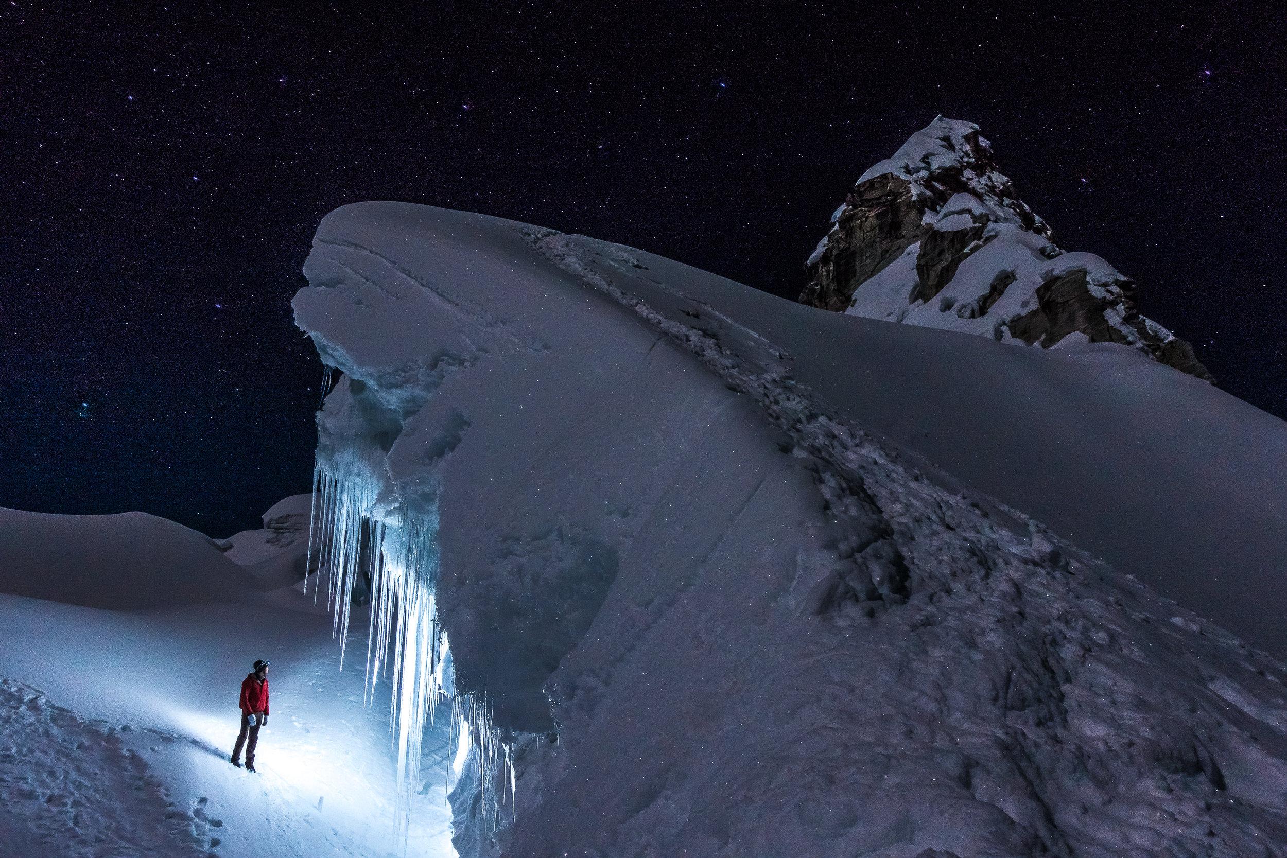 Full Moon Climb of Vallunaraju (5686m), Cordillera Blanca, Peru