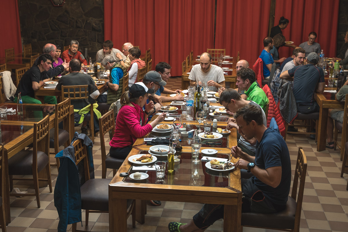 Four-course meal in Penitentes
