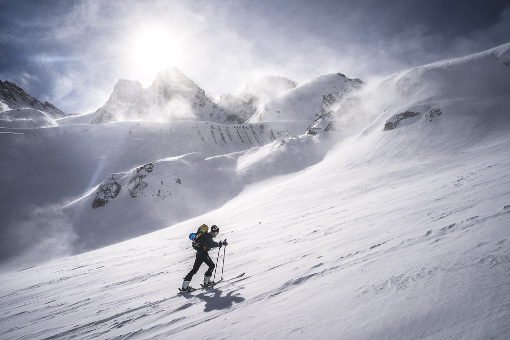 Die Silvretta hat viele Skitouren zu bieten - hier der Aufstieg im oberen Teil des Jamtals.