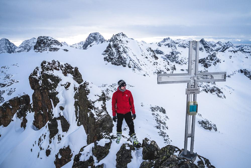 Am Gipfel der Gamsspitze