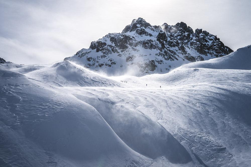 Andere Skitourengeher auf dem Weg zur Gamsspitze