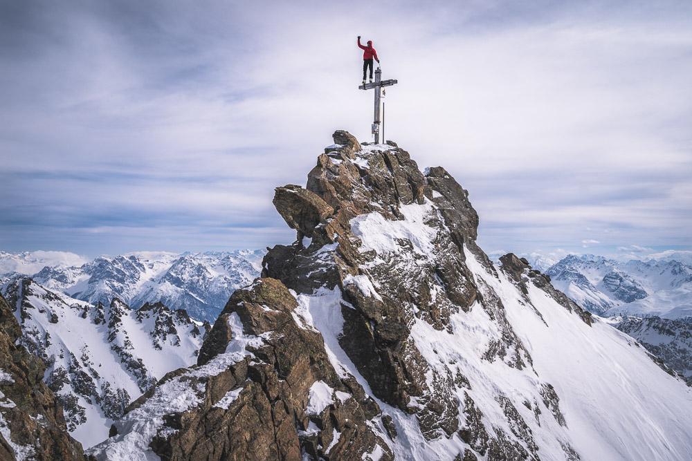 Die Dreiländerspitze (3197m) mit ihrem unglaublichen Gipfel