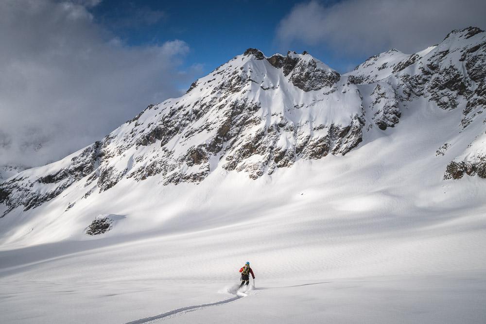 Abfahrt auf dem Silvrettagletscher