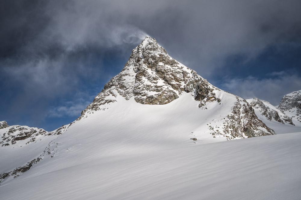 Schneefahne am Silvrettaegghorn