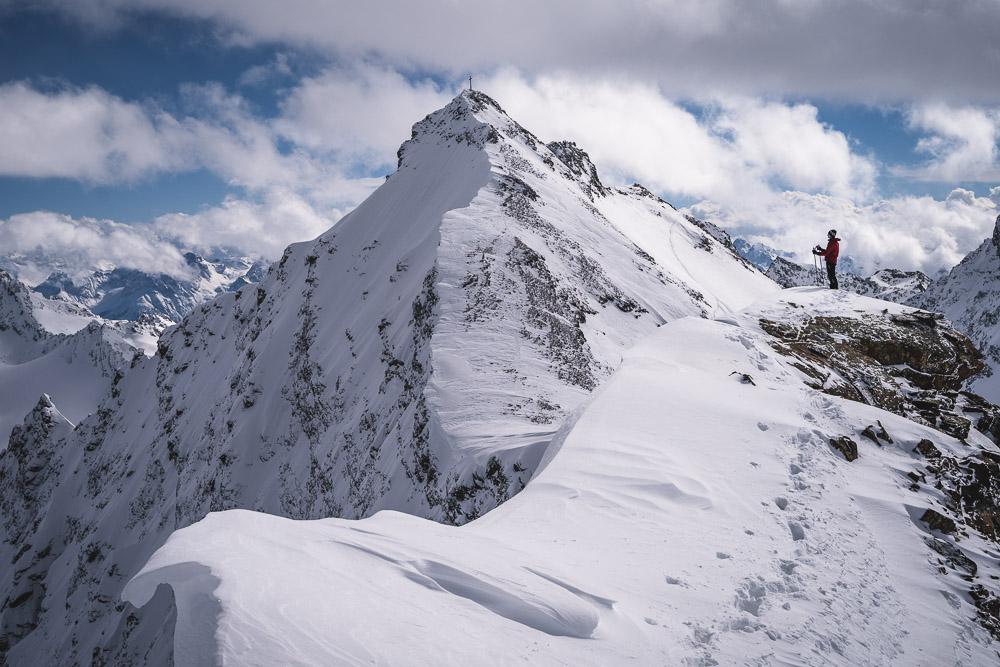 Blick vom Knoten zum Silvrettahorn