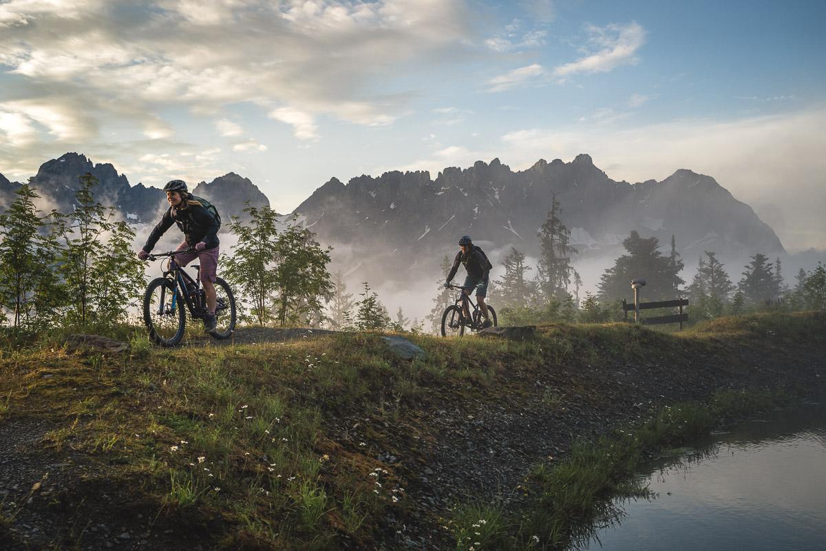 Mountainbiken im Wilden Kaiser
