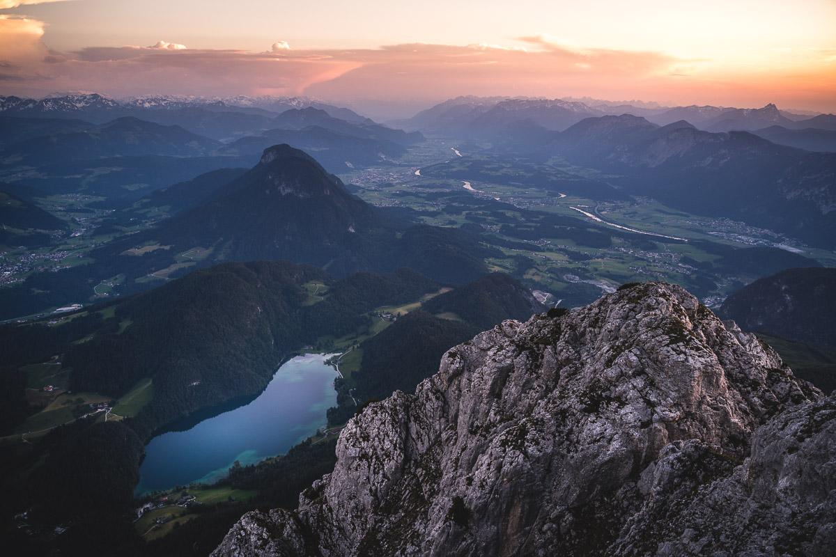 Hintersteiner See vom Scheffauer aus