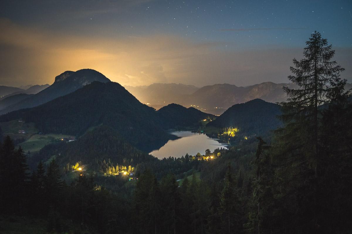 Der Hintersteiner See und das leuchtende Inntal