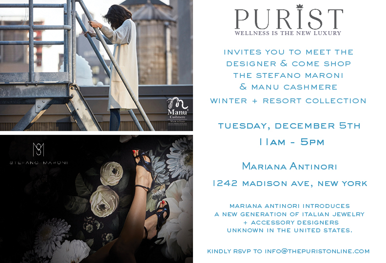 Purist online and Stefano Maroni Invite