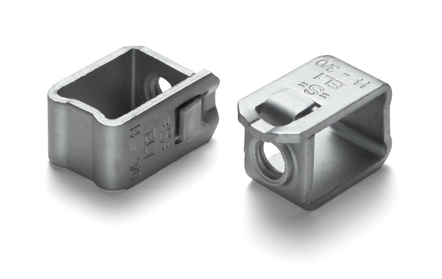 Part: Terminal Box Materials: Carbon Steel Heat Treatment: Bainitic Hardening Coating: Geomet 500 Industry: Electrical