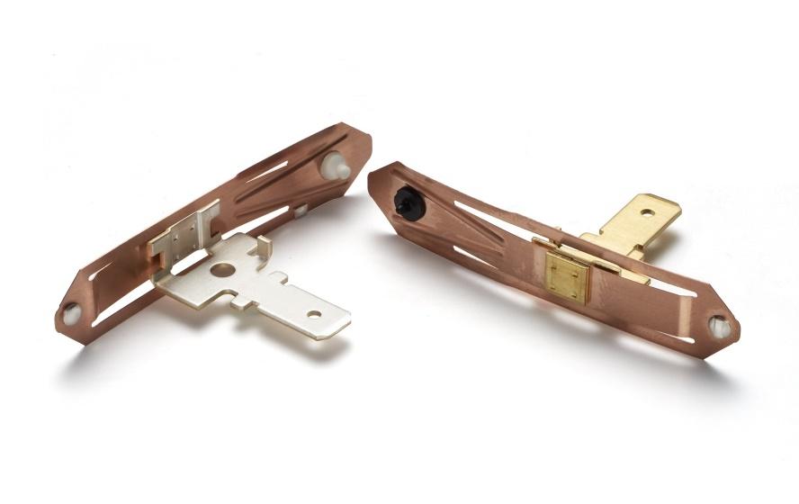 Part: Contact Blade Materials: Copper Beryllium, Brass, Plastic, Silver, Nickel Industry: Appliance