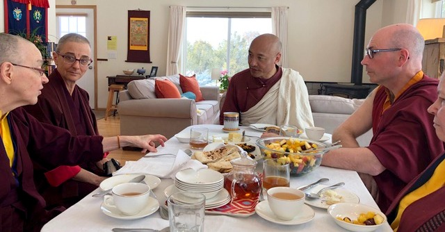 Anam Thubten's gentle, relaxed style made for delightful lunchtime conversation.
