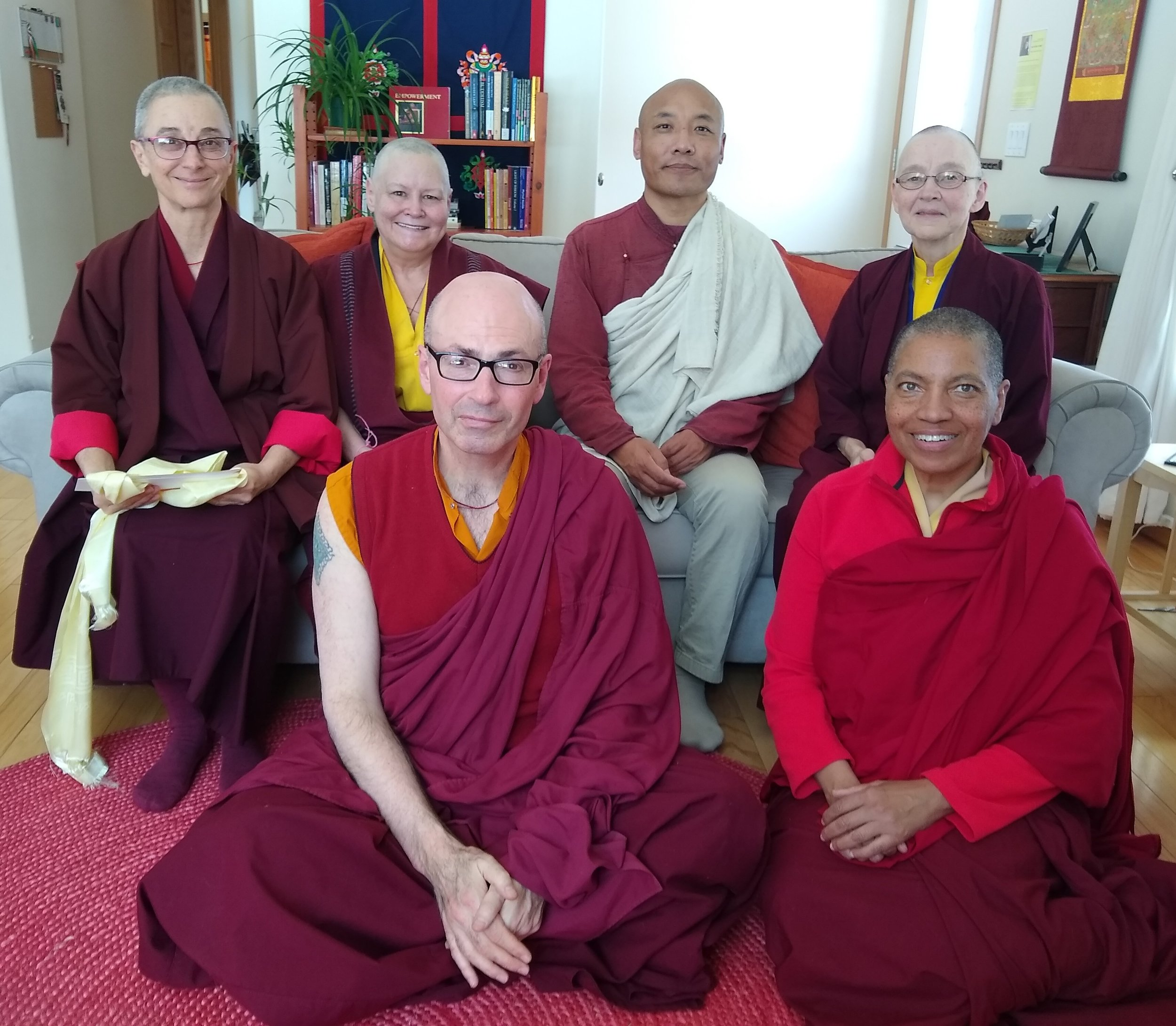 The obligatory group photo before the local monastics bid farewell to Anam Thubten with the heartfelt wish that he return again and again.