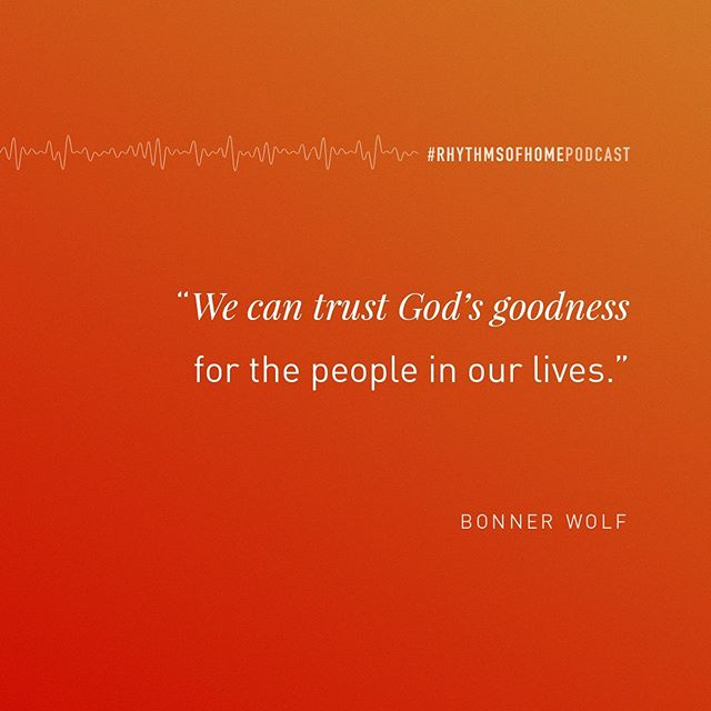 """We can trust God's goodness for the people in our lives."" -@bonnerwolf . Is there someone in your life that you are carrying in an unhealthy way? Often we do this because we wonder, ""if we don't, WHO WILL!?"" You can trust God's goodness for them. Read Jeremiah 32:40 with them in mind, ""I have made an everlasting covenant with them. I will never stop doing good for them."" . Listen to the new podcast today for more on this. (Link in bio)"