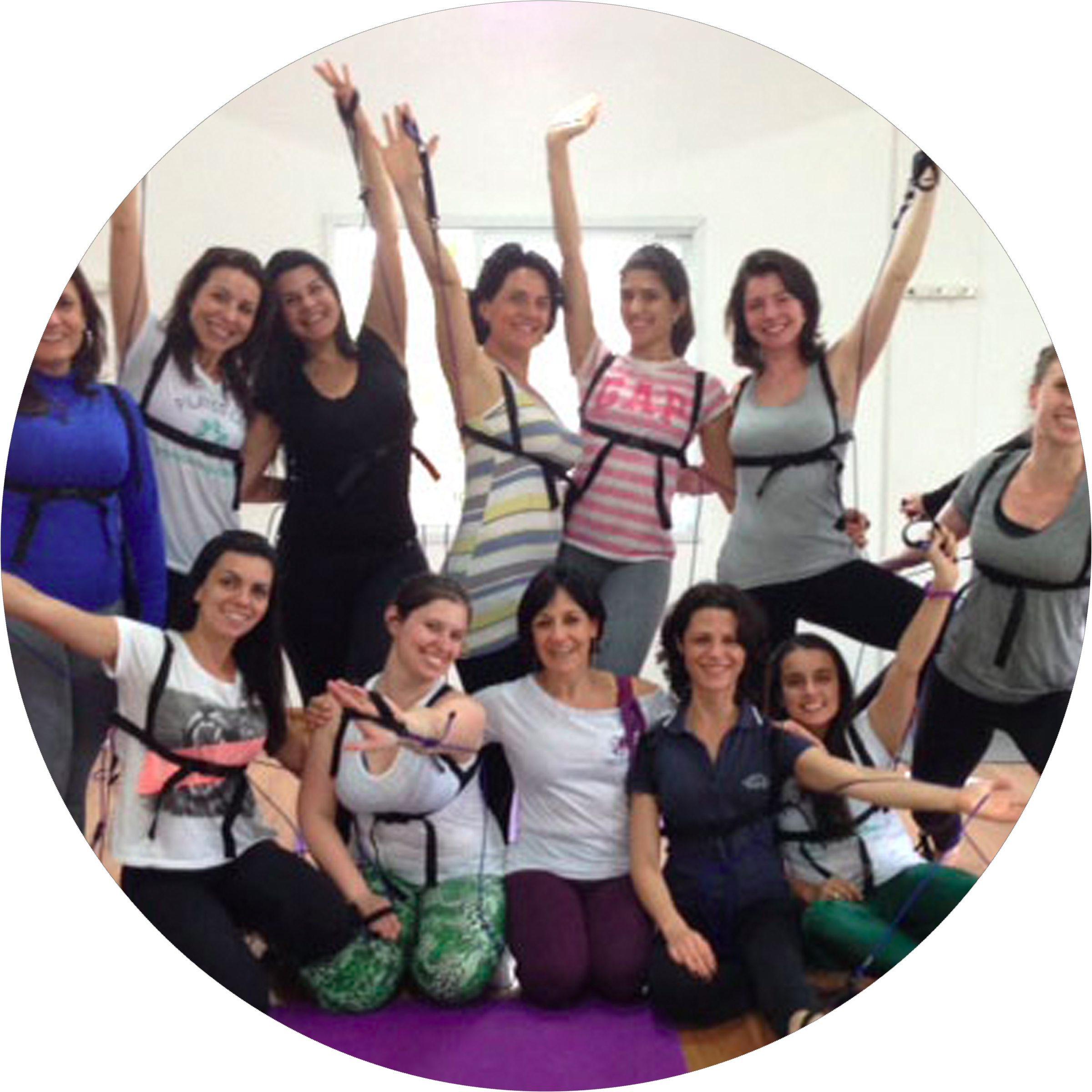 Tye4® Standing & Pilates Mat Class with Elaine DeMarkondes, Brazil.