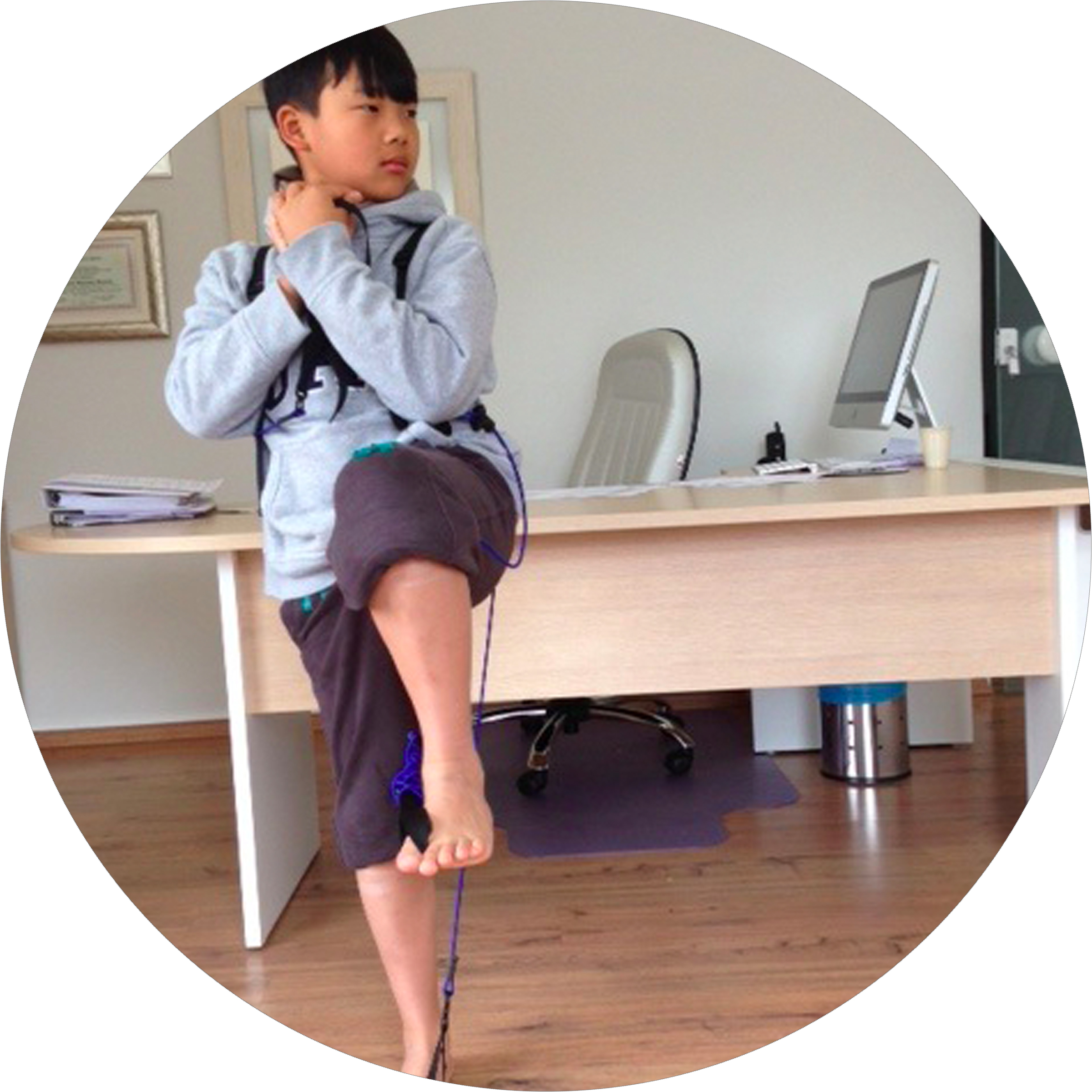 10 Year-old boy practicing baseball movements with Tye4®, Brazil.