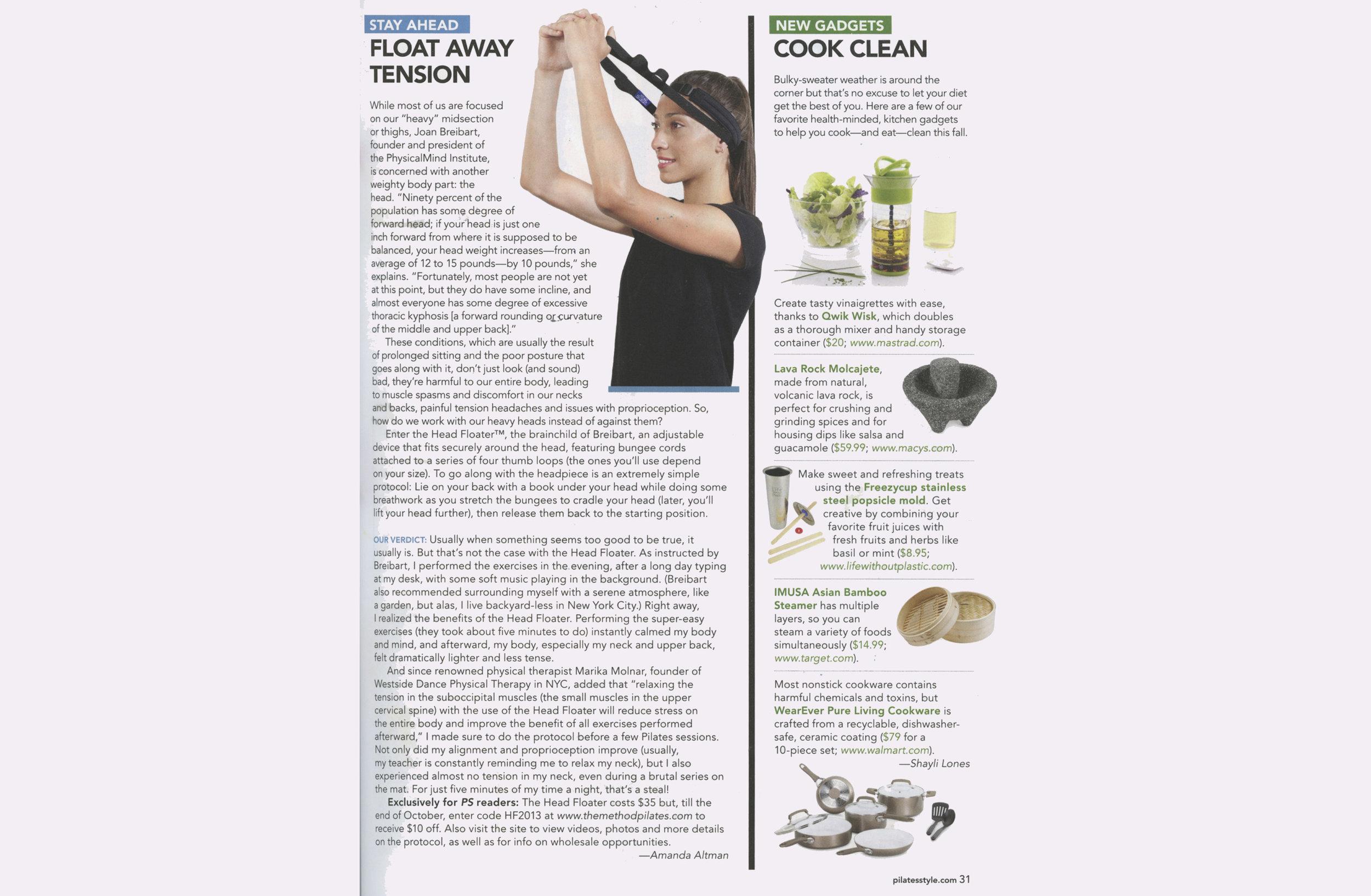 HF in Pilates Style Magazine