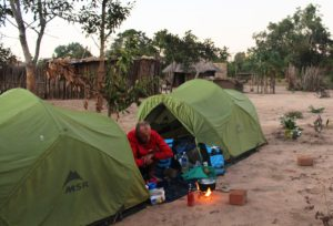 Camping in a friendly Zambian village