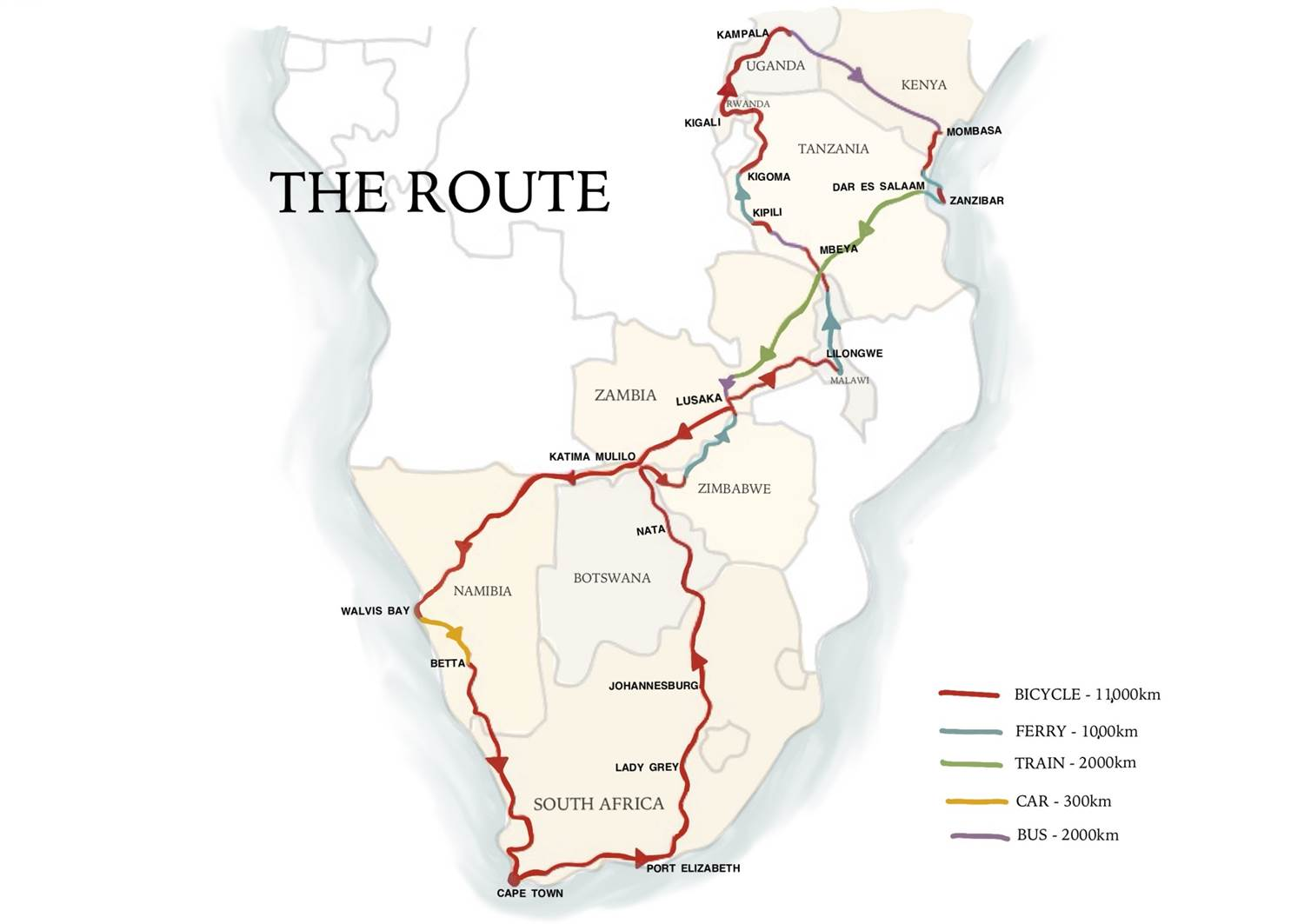 africa-2015-cycle-tour-route