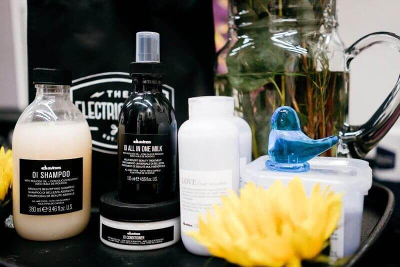 Hair care products at The Electric Chair hair salon