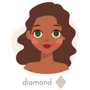 haircut for a diamond shaped face,