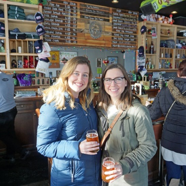 Smiling on a Quad Cities Brewery tour