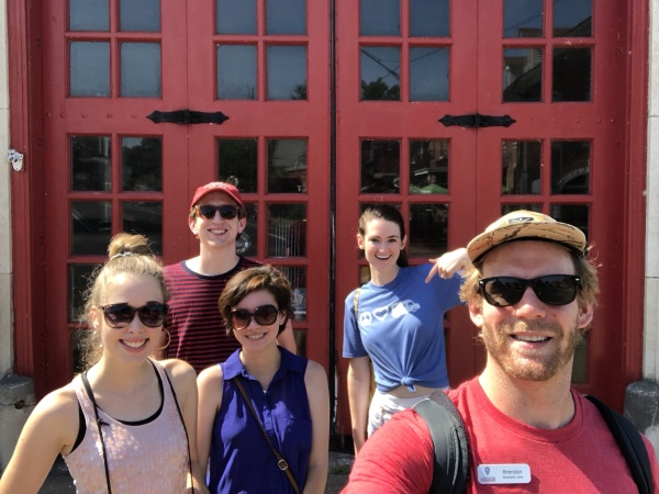 We know the best things about the Quad Cities. Brendan on a walking tour in Davenport, Iowa