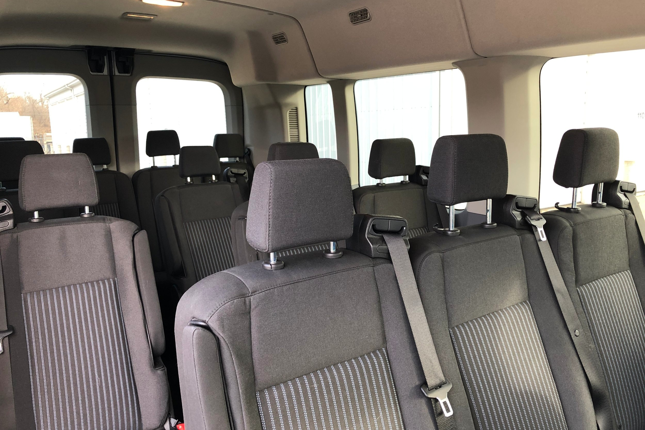 interior of tour van