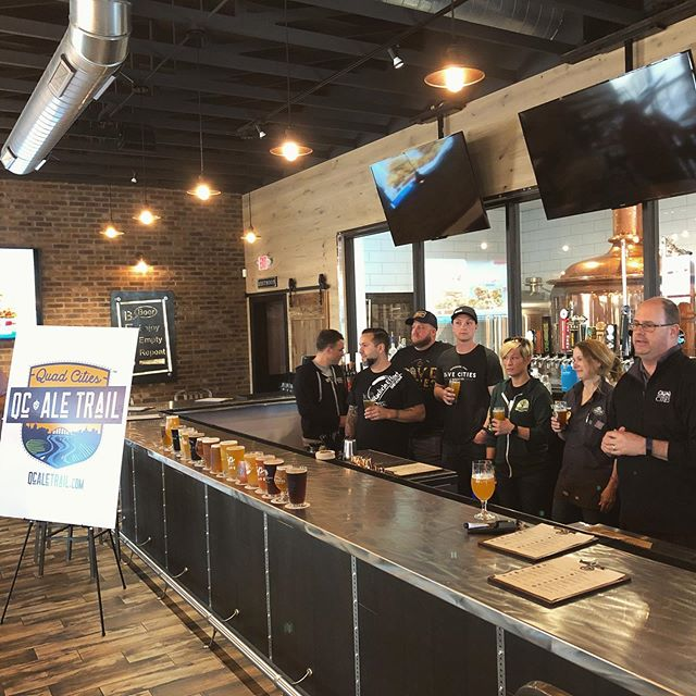 Cheers to Quad Cities beer!🍻We're so excited for the launch of the QC Ale Trail to continue the momentum in telling the story of our local craft beer community! 👏🏼👏🏼