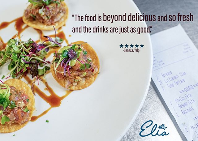 Thanks for these kind words, Genesa! We strive to make quality dishes for everyone who walks through the door. * * * #elia #elianj #eliamediterraneanrestaurant #mediterraneancuisine #foodporn #appetizer #delish #foodie #food #jerseyeats #foodphotography #mediterraneanfood #instafood #eats #foodpics #instagood #tasty #yummy #njfoodsnob #njfood #njfoodie #mediterraneandiet #mediterraneansalad #mediterraneancooking #mediterraneansangria #rawbarnj  #review #reviewus #yelpreview #googlereview