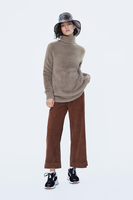 Zara Faux Fur Sweater $50
